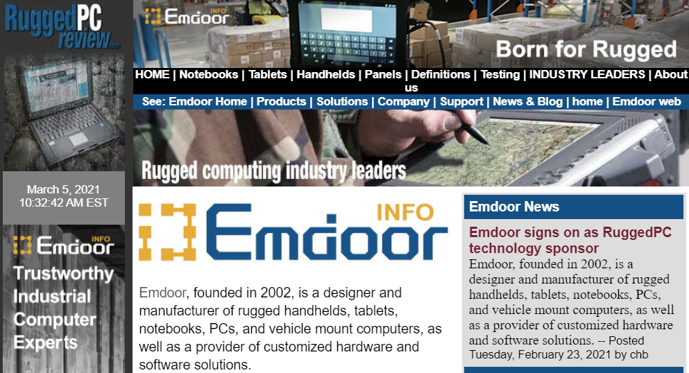 Emdoor signs on as RuggedPC technology sponsor