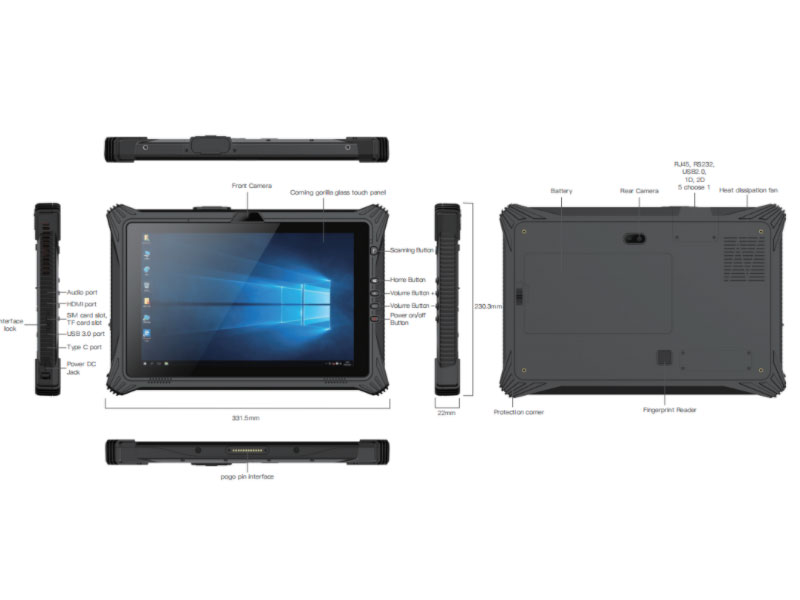 EM-I20U Rugged Tablet
