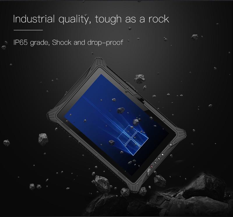 Shock and Drop proof EM I10U Rugged Tablet