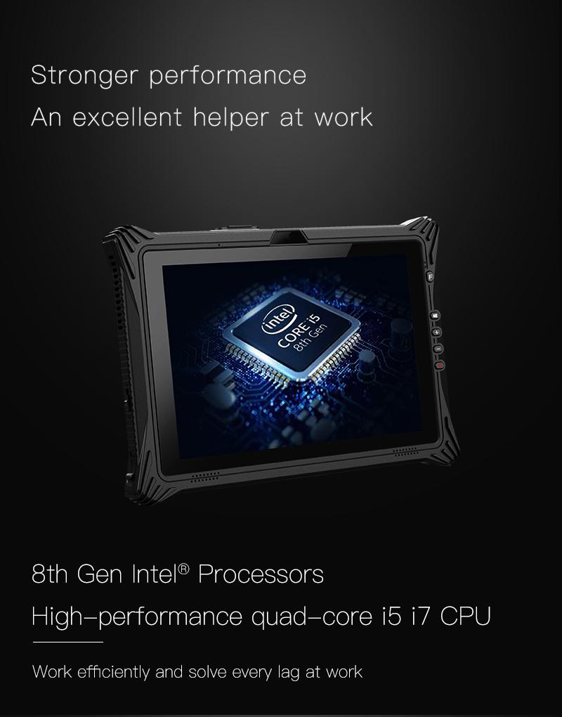 EM I10U Rugged Tablet with Quad-core I5 I7 CPU