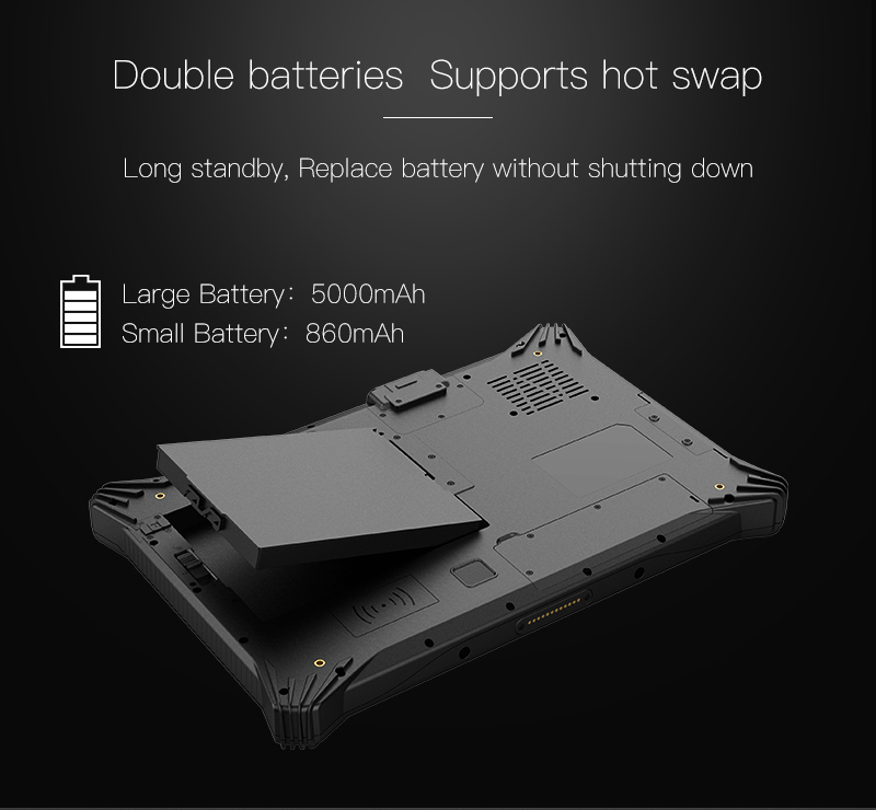 EM I10U Rugged Tablet with Double Batteries